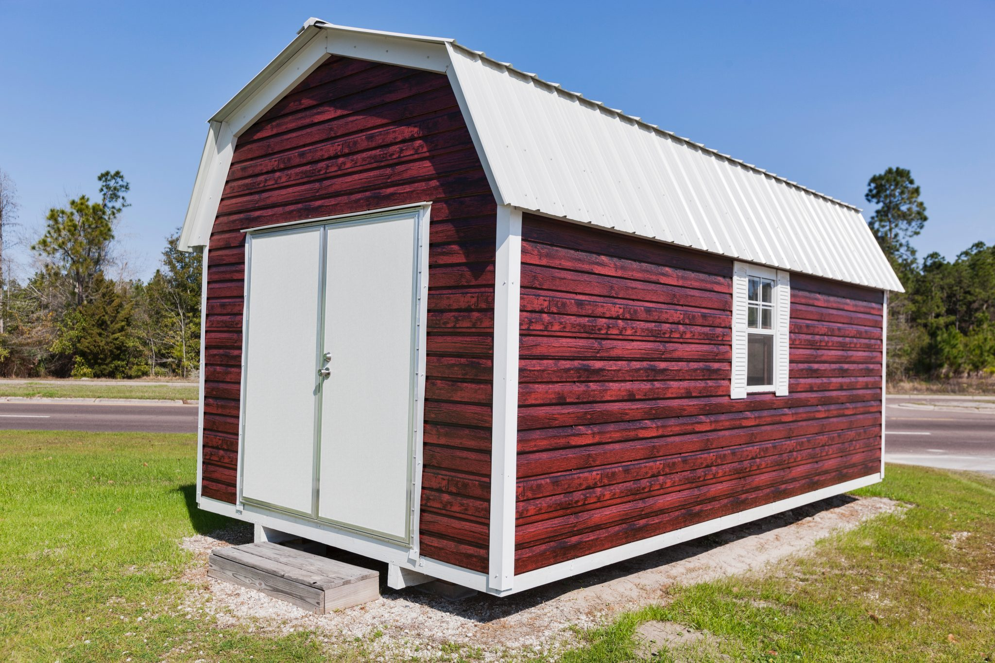 stock at barns colonial riehl barn duratemp sheds red in quality aframe storage